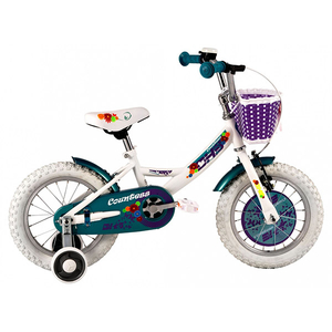 "Bicicleta pentru copii DHS Countess  1402, 14""  Alb"