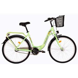 """Bicicleta de oras DHS Travel 2636, 26"""", verde"""