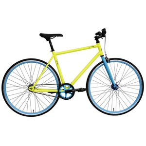 "Bicicleta de oras DHS Fixie 2896, 28"", galben"