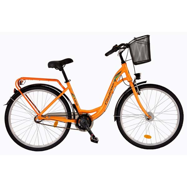 """Bicicleta de oras DHS Travel 2636, 26"""", portocaliu"""