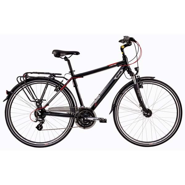 """Bicicleta de oras DHS Travel 2857, 28"""", negru"""