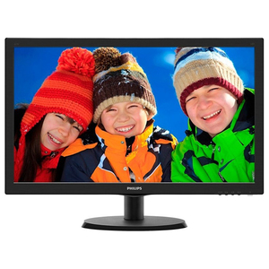 "Monitor LED TN PHILIPS 223V5LHSB/00, 21.5"", Full HD, 60Hz, negru"