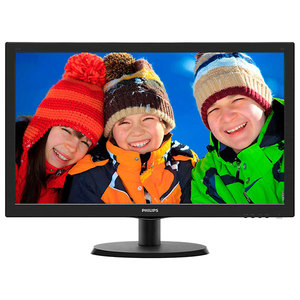 "Monitor LED PHILIPS 223V5LSB2/10, 21.5"", Full HD, negru"