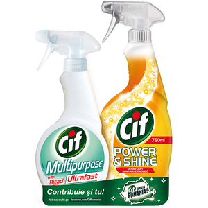 Pachet CIF Multipurposed 500ml + Degresant Power/Shine 750ml