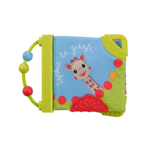 Jucarie interactiva carte cu activitati VULLI Girafa Sophie, 3 luni+, multicolor