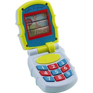 Jucarie muzicala VULLI Primul meu telefon muzical mobil, 3 luni+, albastru