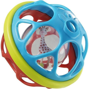 Jucarie interactiva VULLI Minge Soft ball, 3 - 24 luni, multicolor