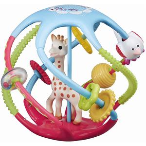 Jucarie interactiva VULLI Girafa Sophie - Twistin'ball, 6 luni+, multicolor