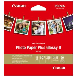 Hartie foto CANON Paper Plus Glossy II PP-201, 13 x 13 cm, 20 coli