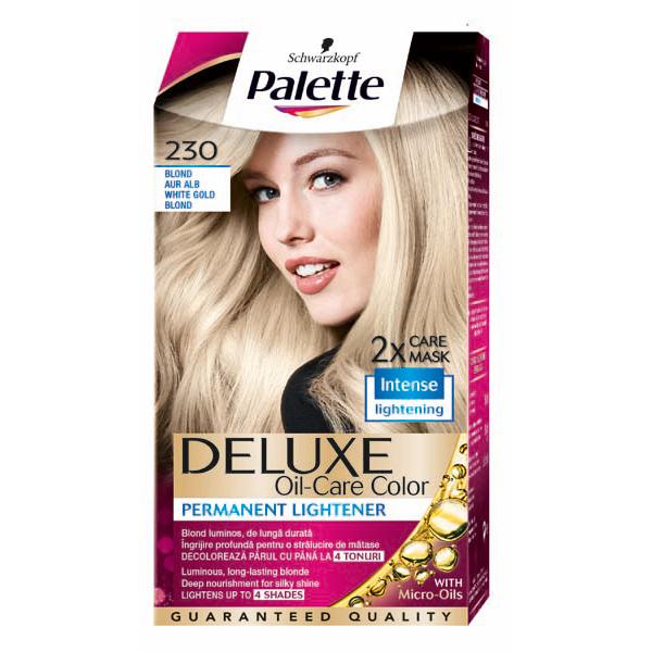 Vopsea de par PALETTE Deluxe, 230 Blond Aur Alb, 115ml