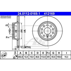 Disc frana spate ATE 24011201691, VW