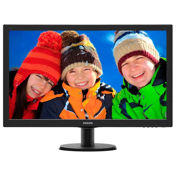 """Monitor LED TN PHILIPS 243V5LHSB, 23.6"""", Full HD, 60Hz, negru"""