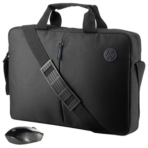 Geanta laptop + mouse Wireless HP 2GJ35AA, negru