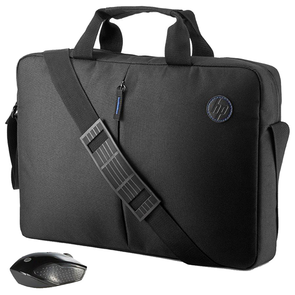 Geanta laptop + mouse Wireless HP 2GJ35AA, negru