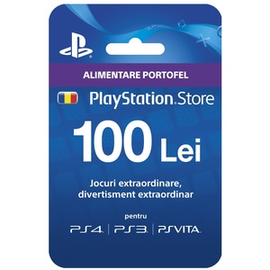 PlayStation Network Card, 100lei (PSN CODE - CONT RO)