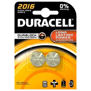 Baterii DURACELL Duralock Litiu CR2016, 2 bucati