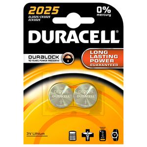 Baterii DURACELL Duralock Litiu CR2025, 2 bucati