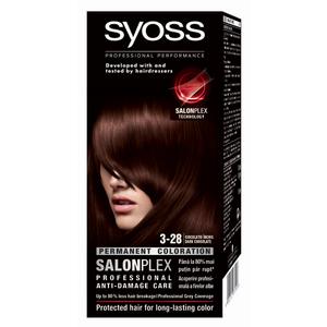 Vopsea de par Syoss Color Bl, 3-28 Ciocolatiu Inchis, 115ml