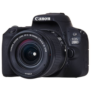 Camera foto DSLR CANON EOS 200D , 24.2MP, Wi-Fi, negru + Obiectiv EF-S 18-55mm IS STM