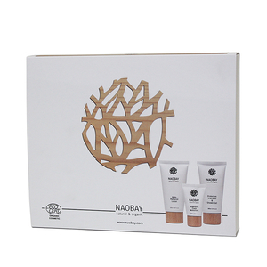Set cadou NAOBAY Travel: Sampon 2in1, 100ml + Lotiune de corp, 100ml + Crema hidratanta, 30ml