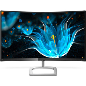 "Monitor curbat LED VA PHILIPS 328E9QJAB, 31.5"", Full HD, FreeSync, 75 Hz, negru-argintiu"