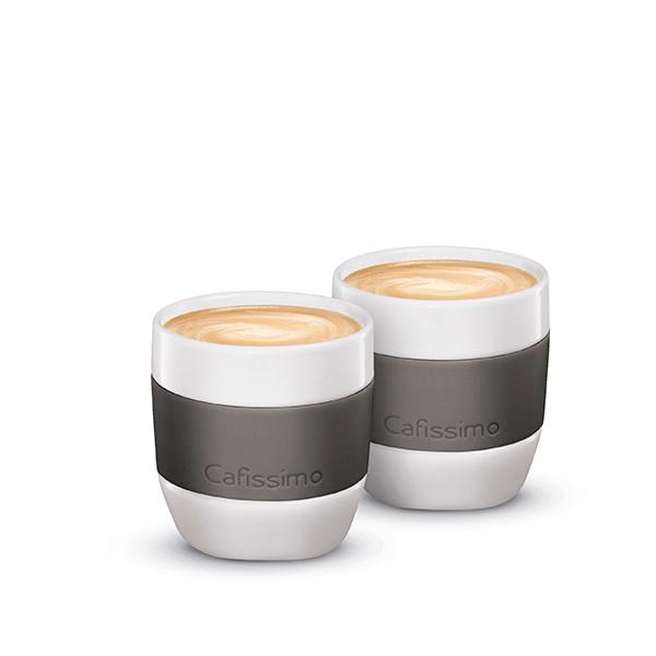 Set 2 cani TCHIBO 330648, caffe crema, portelan, 125ml