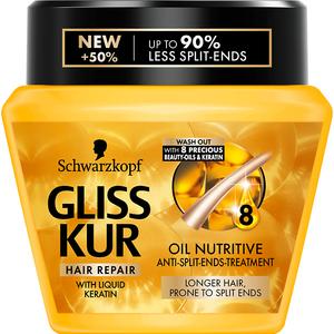 Masca tratament Schwarzkopf Gliss Oil Nutritive, pentru varfuri despicate, 300ml