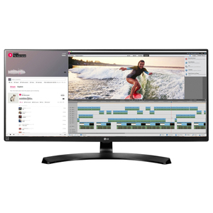 "Monitor LED IPS LG 34UM88-P, 34"", UltraWide QHD, FreeSync, 60Hz, negru"