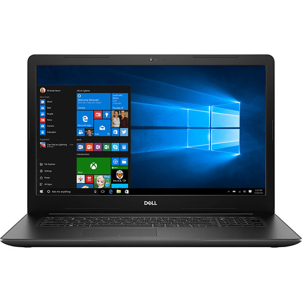 "Laptop DELL Inspiron 3781, Intel Core i3-7020U 2.3GHz, 17.3"" Full HD, 8GB, 1TB, Intel HD Graphics 620, Windows 10 Home, Negru"