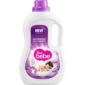 Detergent lichid TEO BEBE Cotton Soft Lavender, 1.1l, 20 spalari