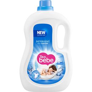 Detergent lichid TEO BEBE Cotton Soft Almond, 2.2l, 40 spalari