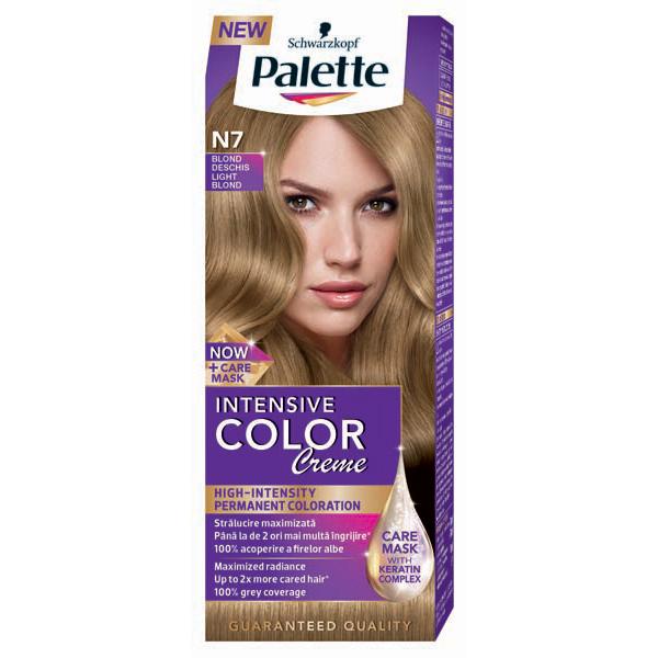 Vopsea De Par Palette Intensive Color Creme N7 Blond Deschis 110ml