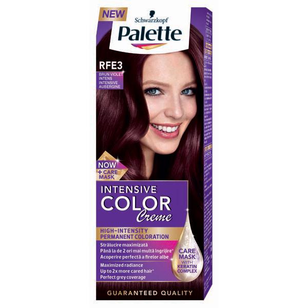 Vopsea de par PALETTE Intensive Color Creme, RFE3 Brun violet, 110ml