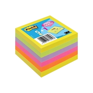 Notite adezive 3M Z-Notes, 100 file, 76 x 76mm, diverse culori