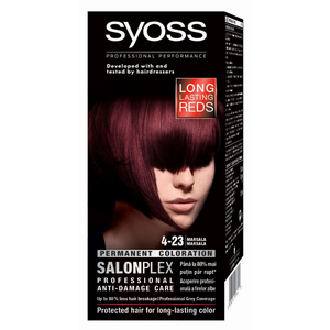 Vopsea de par SYOSS Color Bl, 4-28 Marsala, 115ml