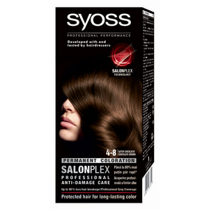Vopsea de par SYOSS Color Bl, 4-8 Saten Ciocolatiu, 115ml