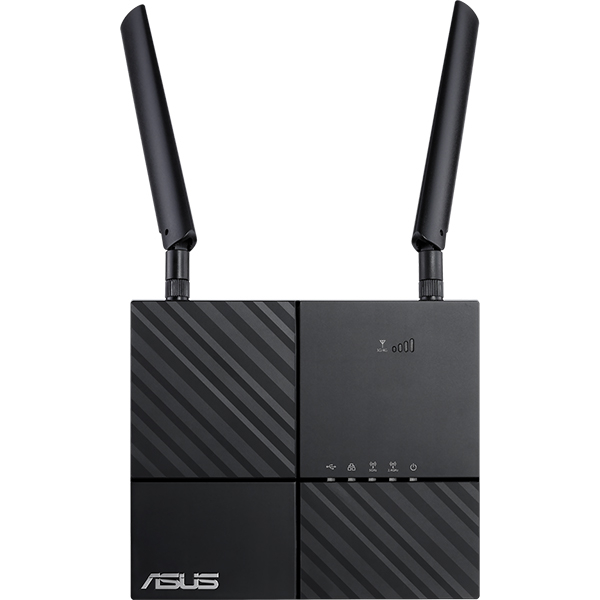 Router Wireless Gigabit ASUS 4G-AC53U AC750, Dual-Band 300 + 433 Mbps, negru
