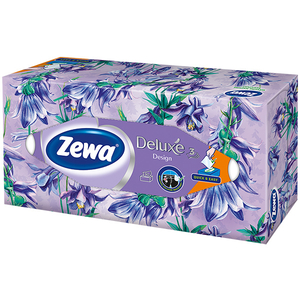 Servetele faciale ZEWA Deluxe Design, 3 straturi, 90 buc