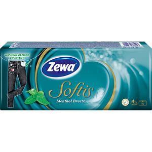 Servetele nazale ZEWA Softis Menthol, 4 straturi, 10 x 9 buc
