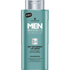 Sampon Schwarzkopf Men Deep Effect 3, antimatreata, 250ml