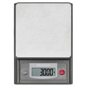Cantar digital de bucatarie MEDISANA KS200 40469, 3kg, afisaj LCD, otel inoxidabil