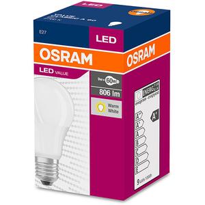 Bec Led OSRAM 4052899326842, E27, 9.5W, 2700K, alb cald