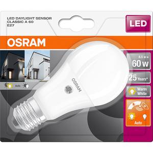 Bec LED Senzor OSRAM Lumina A60 8, 8.5W, E27