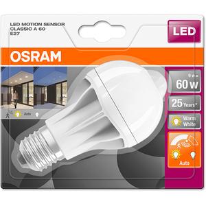 Bec LED Senzor OSRAM Miscare A60, 9W, E27