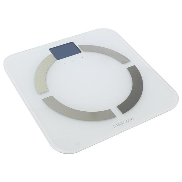 Cantar de persoane cu analizator corporal MEDISANA BS 430, 10 memorii, 180 kg, Bluetooth, alb