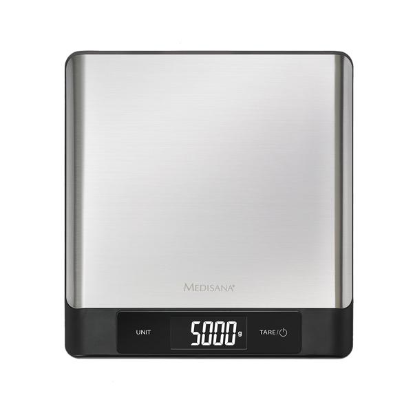 Cantar digital de bucatarie MEDISANA KS230, 5kg, display LED, oprire automata, otel inoxidabil