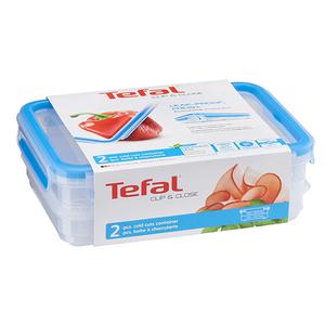 Set caserole TEFAL Clip&Close K3028812, 0.6 - 2l, plastic, transparent