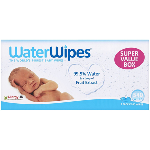 Servetele umede WATERWIPES, 9 pachete, 540 buc