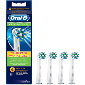 Rezerve periuta de dinti electrica ORAL-B CrossAction 80250705, 3+1 Gratis