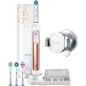 Periuta de dinti electrica Oral-B Genius 9000, Curatare 3D, Bluetooth, 6 programe, 40000 pulsatii/min, 4 capete, roz + Etui calatorie